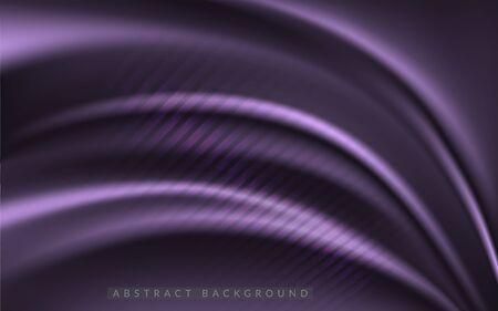 Dynamic silk smooth purple background. Abstract realistic background design. Background template design