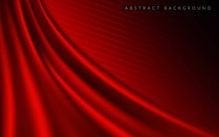 Dynamic silk smooth red background. Abstract realistic background design. Background template design