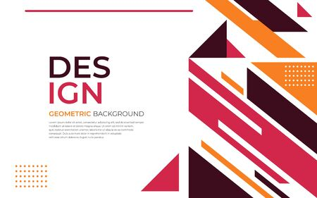 Minimal abstract geometric background with dynamic shapes composition. Vector graphic illustration.