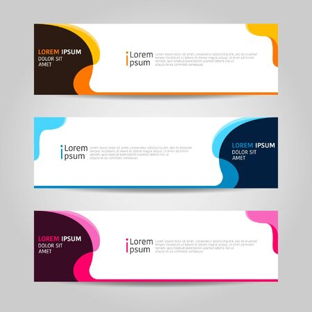 Colorful Banner background design. modern abstract template design. Vector graphic illustration