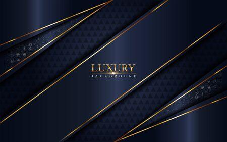 Luxurious dark navy blue background. Elegant modern background. Vector graphic illustration Vettoriali