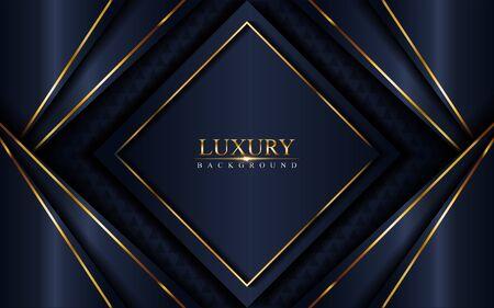 Luxurious dark navy blue background. Elegant modern background. Vector graphic illustration