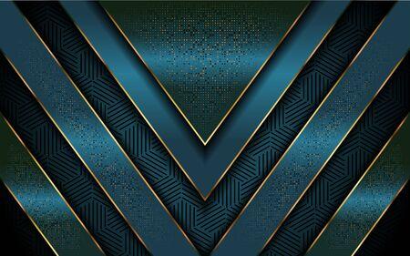 Luxurious dark navy tosca green background. Elegant modern background. Vector graphic illustration