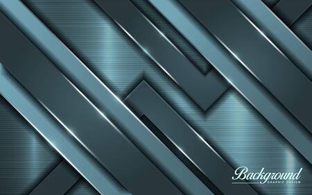 Modern shinny tosca metallic background design. Vector graphic illustration Vector Illustratie
