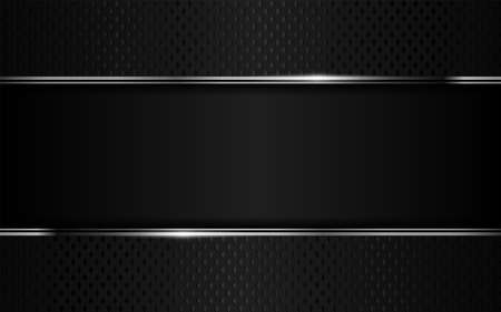 Creative luxury black and silver lines background design. Graphic design template. Vector illustration