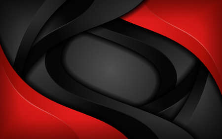Abstract dynamic red and black combination background design. Graphic design template Illustration