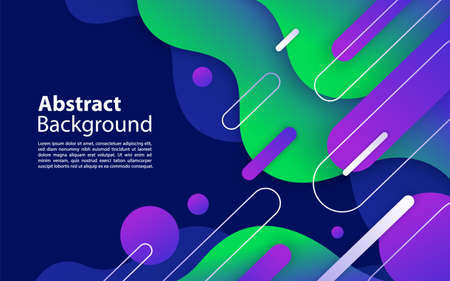 Abstract background with dynamic and geometric shape composition. Graphic design element Vector Illustration