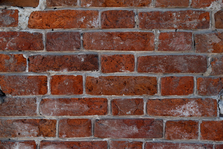 Red old brick wall, background, texture tile 2