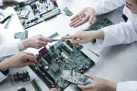 Décomposer le circuit électronique
