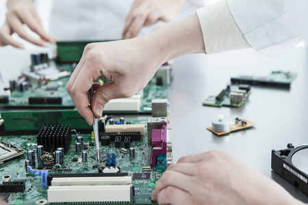 microprocessors: Engineer was wearing a white coat