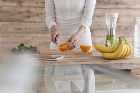 Woman to cook fresh fruit