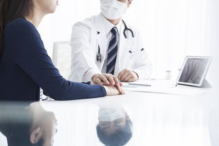 lend a hand: Doctor to lend a hand Stock Photo