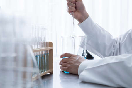 subordinates: Researcher for the development of detergent Stock Photo