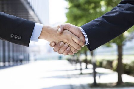 business people shaking hands Banque d'images