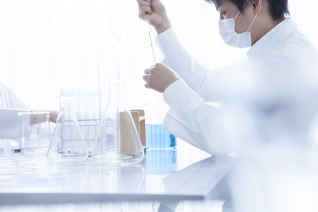 Men doing research in the laboratory