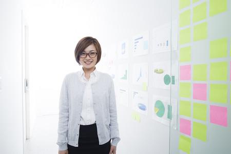 Asian woman wears glasses