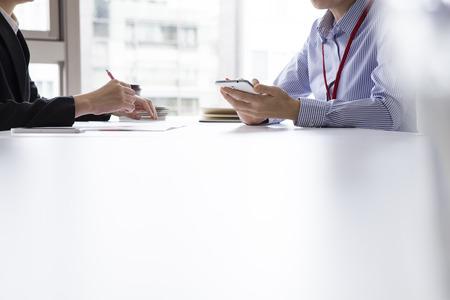 ビジネス インタビュー 写真素材