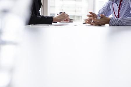 zakelijke interview Stockfoto