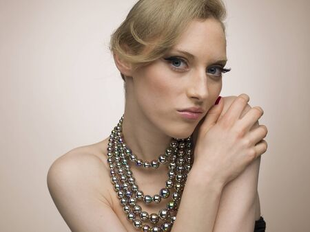 Female model wearing a gorgeous necklace