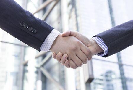 working hands: Businessman shaking hands