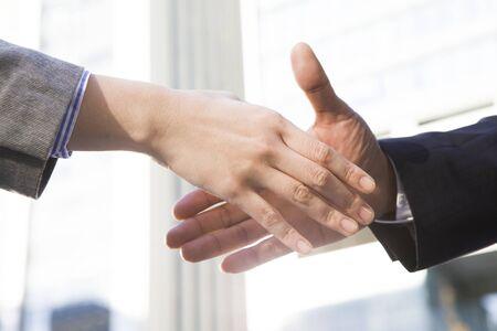 Man shake hands