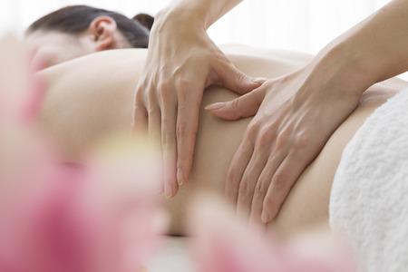 Flank massage 写真素材