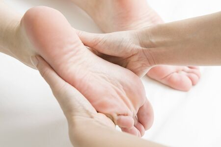 free image: Female customers, which is a foot massage