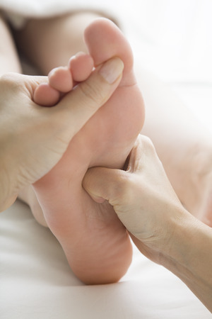 hold ups: massage the soles of the feet