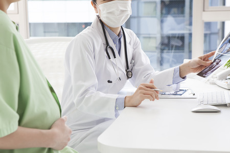 obstetrician: Obstetrician and gynecologist Stock Photo