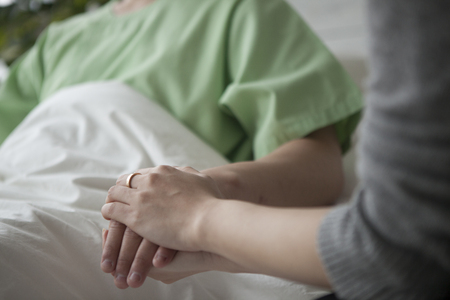 physiotherapists: Wife to hold the hand of her husband