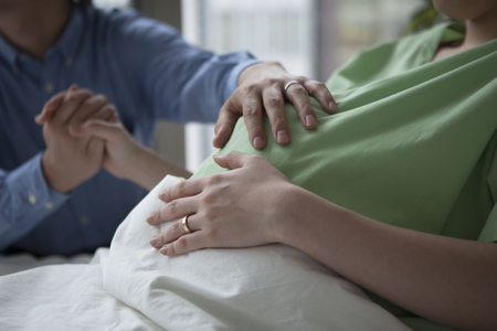 Pregnant woman in the hospital