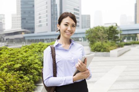 Women working in the city Stockfoto