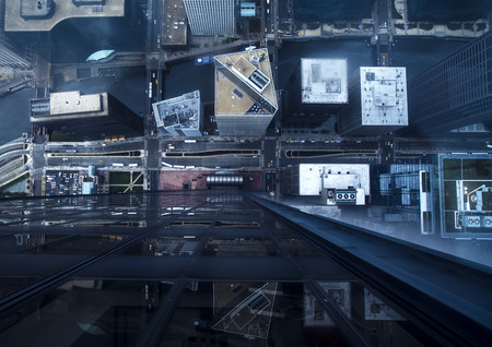 航空写真シカゴの構築