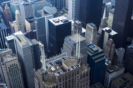 aerial photograph Chicago building