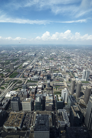 aerial photograph: aerial photograph Chicago building