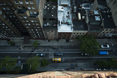 도시의 공중 사진