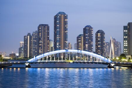 houseboat: Sumida River Stock Photo