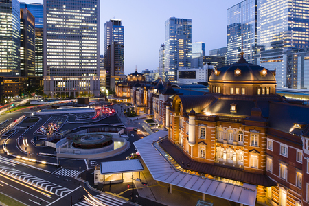 diversity of the region: Tokyo Station Stock Photo