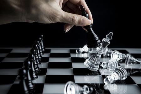 チェス対決 写真素材