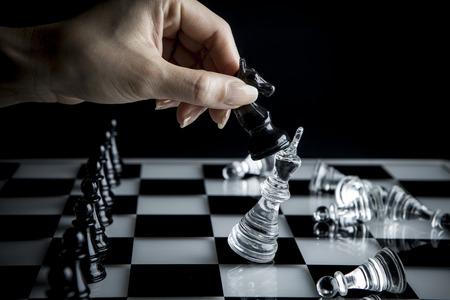 チェスの戦術 写真素材