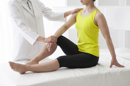 white coat: Chiropractic, osteopathy, pain relief concept.