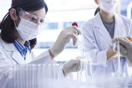 Biologist Working in a Professional Laboratory. Stock Photo - 60457017