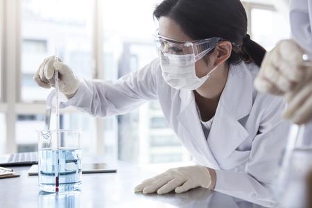 Scientist in lab.