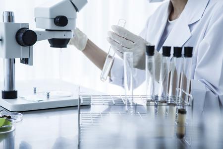 Scientific microscope in laboratory.