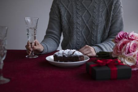 christmas prayer: A woman enjoying tea time.