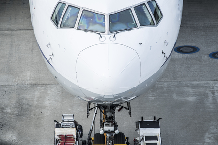 Close-up of the tip of the airplane.