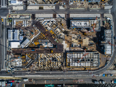 Aerial photograph of construction site. Urban planning. 写真素材