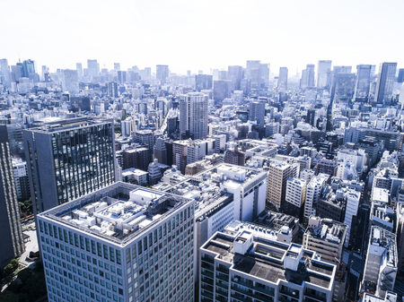 The city of Tokyo seen from above. Zdjęcie Seryjne