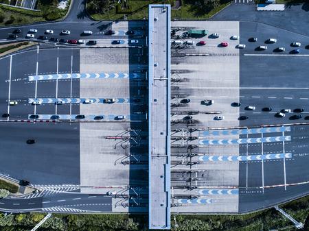 Aerial shooting of Japanese interchange. Highway. 写真素材