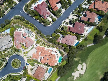 Aerial view of a beautiful resort in California. Zdjęcie Seryjne